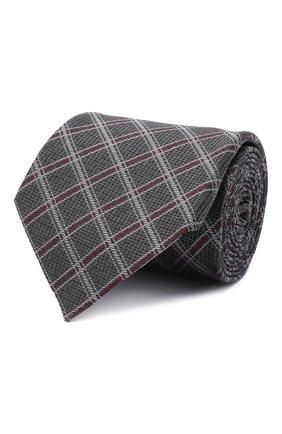 Мужской шелковый галстук ERMENEGILDO ZEGNA серого цвета, арт. Z8D33/1UM | Фото 1