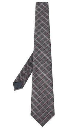 Мужской шелковый галстук ERMENEGILDO ZEGNA серого цвета, арт. Z8D33/1UM | Фото 2