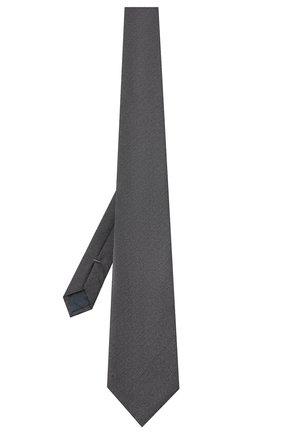 Мужской шелковый галстук ERMENEGILDO ZEGNA серого цвета, арт. Z8D30/1UM | Фото 2
