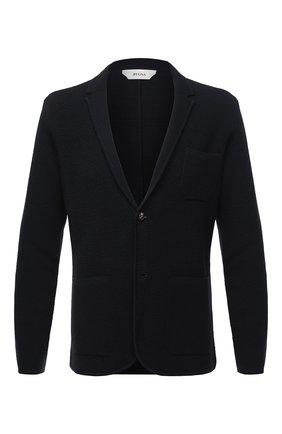 Мужской шерстяной пиджак Z ZEGNA темно-синего цвета, арт. VVP86/ZZ164   Фото 1
