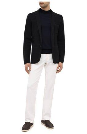 Мужской шерстяной пиджак Z ZEGNA темно-синего цвета, арт. VVP86/ZZ164   Фото 2