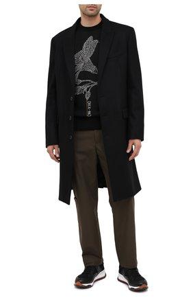 Мужской шерстяной джемпер Z ZEGNA черного цвета, арт. VVP80/ZZ110 | Фото 2