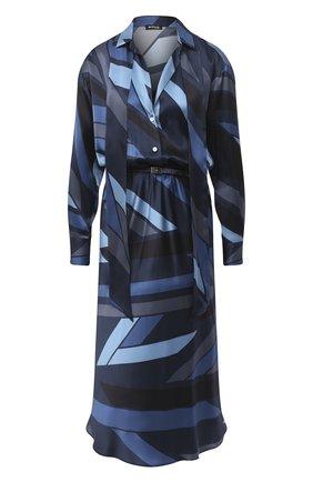 Женское шелковое платье KITON синего цвета, арт. D48301K05T81 | Фото 1