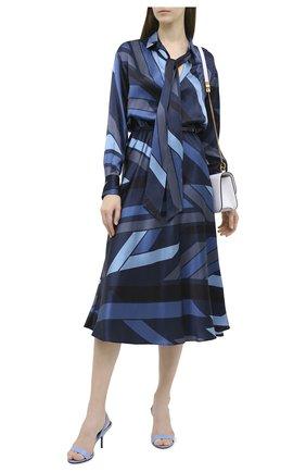 Женское шелковое платье KITON синего цвета, арт. D48301K05T81 | Фото 2