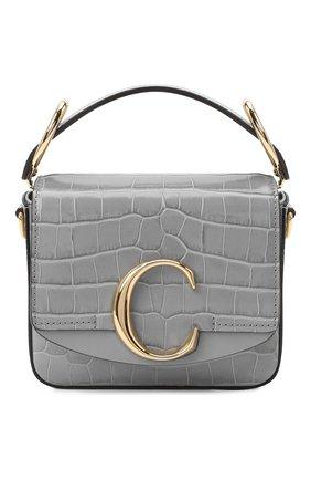 Женская сумка chloé c mini CHLOÉ серого цвета, арт. CHC19US193A87   Фото 1