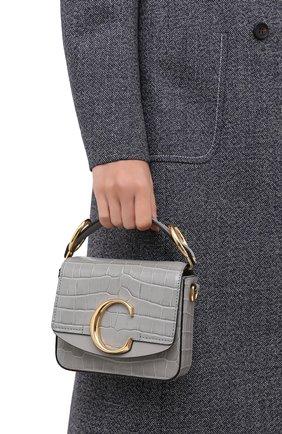 Женская сумка chloé c mini CHLOÉ серого цвета, арт. CHC19US193A87   Фото 2