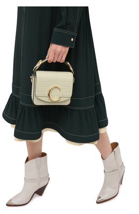 Женская сумка chloé c mini CHLOÉ светло-зеленого цвета, арт. CHC19US193A87   Фото 2