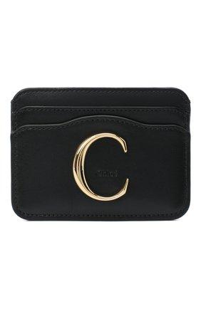 Женский кожаный футляр для кредитных карт CHLOÉ черного цвета, арт. CHC19UP085A37 | Фото 1