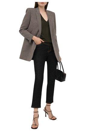 Женский пуловер из кашемира и шелка TOM FORD хаки цвета, арт. MAK912-YAX087 | Фото 2