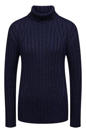 Женский свитер TOM FORD синего цвета, арт. MAK1020-YAX261 | Фото 1 (Материал внешний: Шерсть, Шелк; Рукава: Длинные; Длина (для топов): Стандартные; Стили: Кэжуэл, Минимализм, Классический; Женское Кросс-КТ: Свитер-одежда)