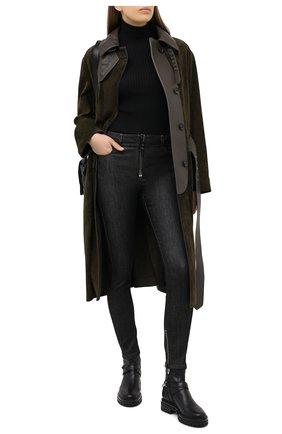 Женское кожаное пальто TOM FORD хаки цвета, арт. CPL688-LEX226 | Фото 2