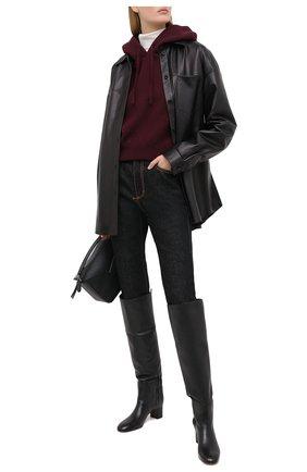 Женские кожаные сапоги SANTONI черного цвета, арт. WSNC58798HI2NLY0N01 | Фото 2