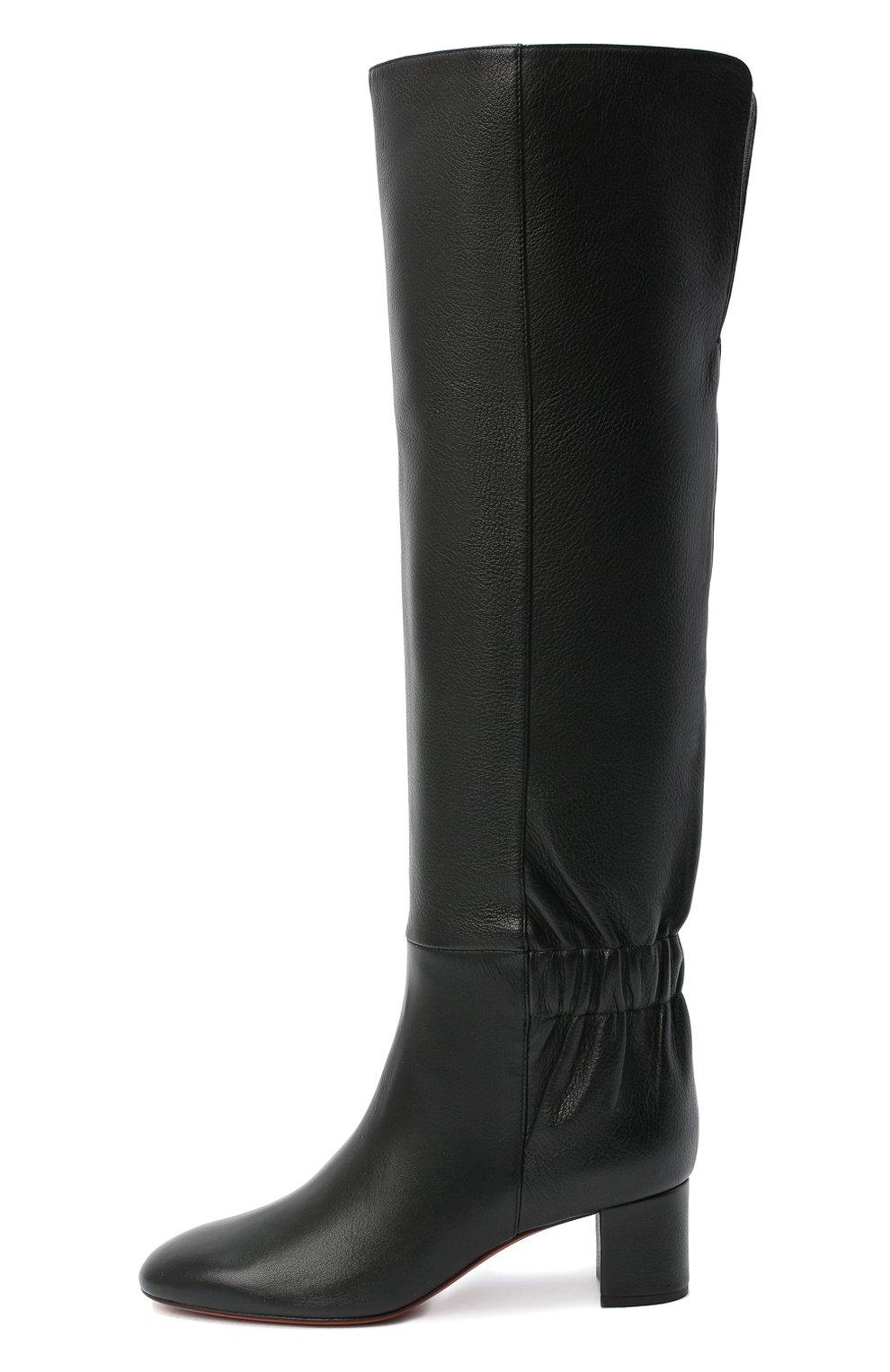 Женские кожаные сапоги SANTONI черного цвета, арт. WSNC58798HI2NLY0N01 | Фото 3