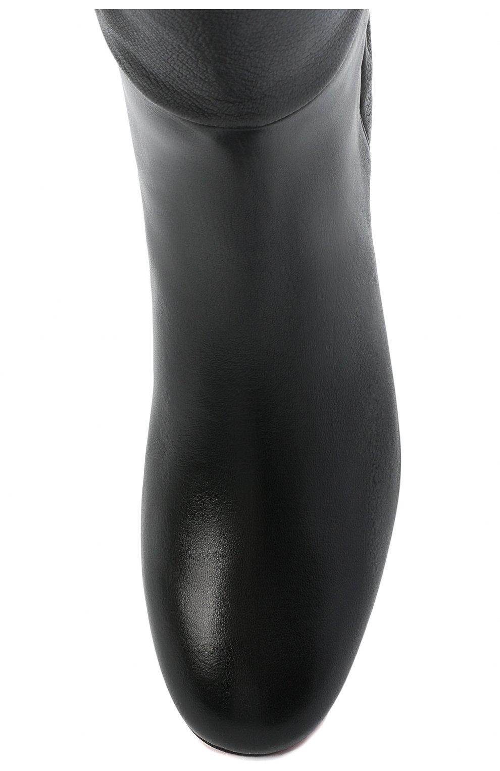 Женские кожаные сапоги SANTONI черного цвета, арт. WSNC58798HI2NLY0N01 | Фото 5