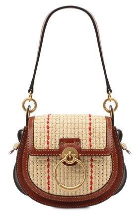Женская сумка tess small CHLOÉ коричневого цвета, арт. CHC20AS153D03   Фото 1