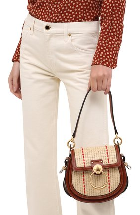 Женская сумка tess small CHLOÉ коричневого цвета, арт. CHC20AS153D03   Фото 2