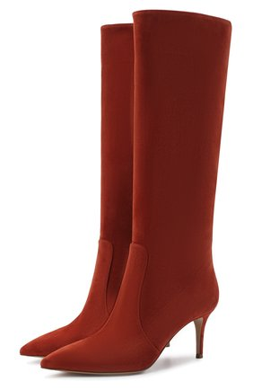 Женские замшевые сапоги hansen GIANVITO ROSSI красного цвета, арт. G80458.70RIC.C45INDX   Фото 1