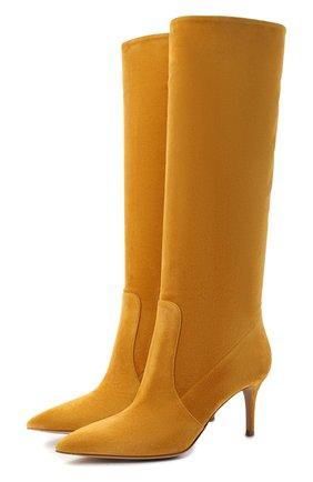 Женские замшевые сапоги hansen GIANVITO ROSSI желтого цвета, арт. G80458.70RIC.C45GING   Фото 1
