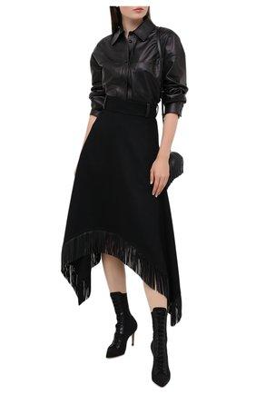 Женские текстильные ботильоны lene GIANVITO ROSSI черного цвета, арт. G73487.85RIC.0KTNENE   Фото 2