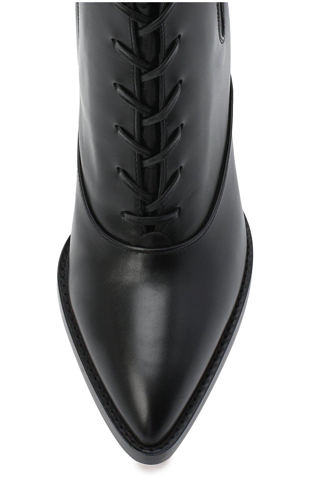 Женские кожаные ботильоны dresda GIANVITO ROSSI черного цвета, арт. G73478.85CU0.VITNER0 | Фото 5