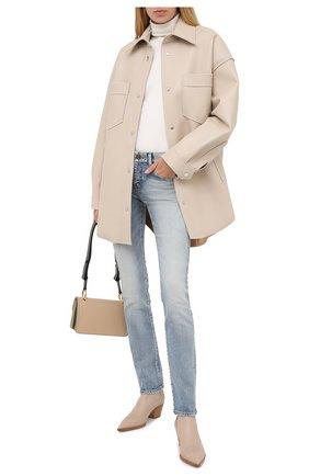 Женские кожаные ботинки GIANVITO ROSSI бежевого цвета, арт. G70343.45CU0.CLNM0US | Фото 2