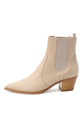Женские кожаные ботинки GIANVITO ROSSI бежевого цвета, арт. G70343.45CU0.CLNM0US | Фото 3
