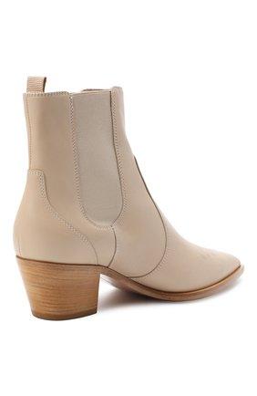 Женские кожаные ботинки GIANVITO ROSSI бежевого цвета, арт. G70343.45CU0.CLNM0US | Фото 4