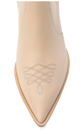 Женские кожаные ботинки GIANVITO ROSSI бежевого цвета, арт. G70343.45CU0.CLNM0US | Фото 5