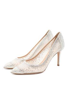 Женская текстильные туфли rania GIANVITO ROSSI белого цвета, арт. G20475.85RIC.C0Z0F0F | Фото 1