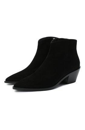 Женские замшевые ботинки frankie GIANVITO ROSSI черного цвета, арт. G05655.45CU0.CASNER0 | Фото 1
