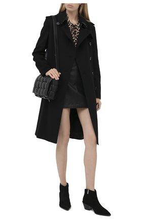 Женские замшевые ботинки frankie GIANVITO ROSSI черного цвета, арт. G05655.45CU0.CASNER0 | Фото 2