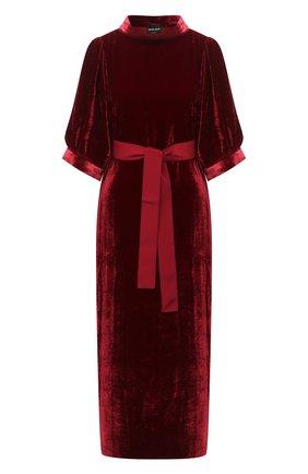 Женское платье из вискозы GIORGIO ARMANI красного цвета, арт. 0WHVA060/T01I7 | Фото 1