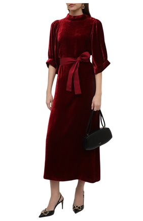 Женское платье из вискозы GIORGIO ARMANI красного цвета, арт. 0WHVA060/T01I7 | Фото 2