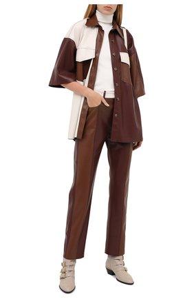 Женские кожаные ботинки susanna CHLOÉ серого цвета, арт. CHC16A13475 | Фото 2