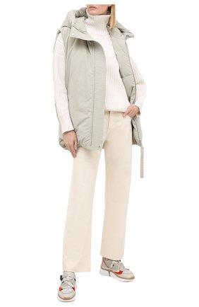 Женские комбинированные кроссовки sonnie CHLOÉ светло-серого цвета, арт. CHC18A05118 | Фото 2