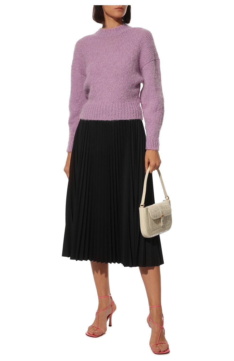 Женские кожаные босоножки bv line BOTTEGA VENETA розового цвета, арт. 630178/VBP10   Фото 2
