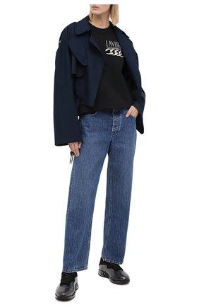 Женская хлопковая футболка ALEXANDER WANG черного цвета, арт. 1CC2201380 | Фото 2
