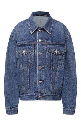 Женская джинсовая куртка DENIM X ALEXANDER WANG синего цвета, арт. 4DC2202785   Фото 1