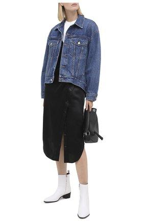 Женская джинсовая куртка DENIM X ALEXANDER WANG синего цвета, арт. 4DC2202785   Фото 2