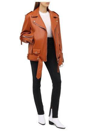 Женские джинсы DENIM X ALEXANDER WANG серого цвета, арт. 4DC2204771   Фото 2