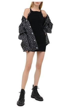 Женское платье из вискозы ALEXANDERWANG.T черного цвета, арт. 4KC2206036 | Фото 2