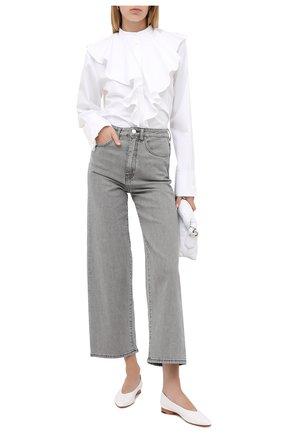Женская хлопковая блузка TOTÊME белого цвета, арт. CABRERA 203-754-710 | Фото 2