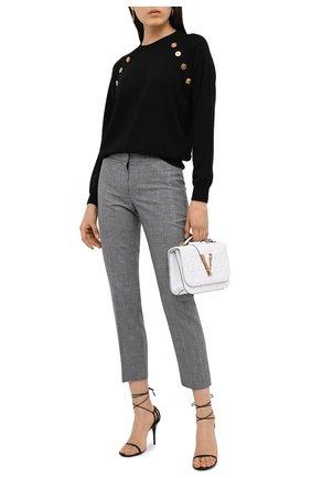 Женский шерстяной пуловер VERSACE черного цвета, арт. A87160/A235901 | Фото 2