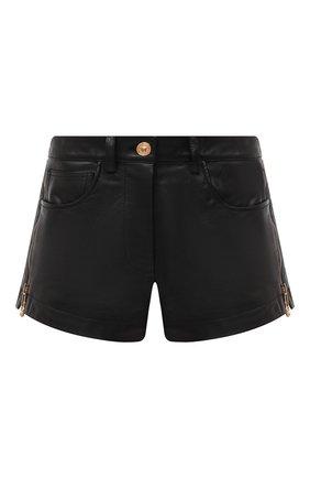 Женские кожаные шорты VERSACE черного цвета, арт. A87223/A234801 | Фото 1