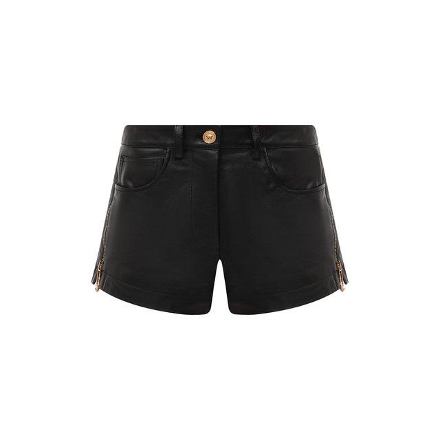 Кожаные шорты Versace