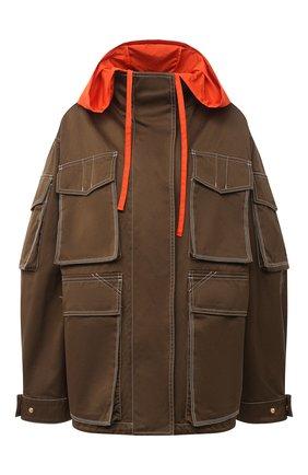 Женская хлопковая куртка VERSACE хаки цвета, арт. A87283/A229958 | Фото 1