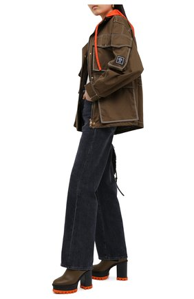 Женская хлопковая куртка VERSACE хаки цвета, арт. A87283/A229958 | Фото 2