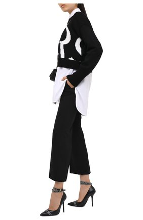 Женская кожаные туфли VERSACE черного цвета, арт. DST444P/D5VTR | Фото 2