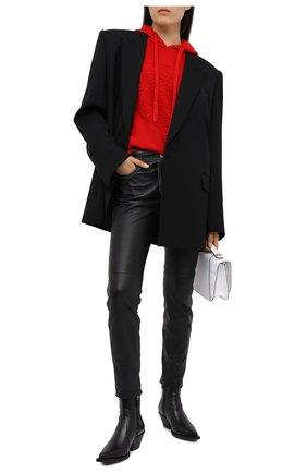 Женские кожаные ботинки gv signature VERSACE черного цвета, арт. DST487I/DVT43 | Фото 2