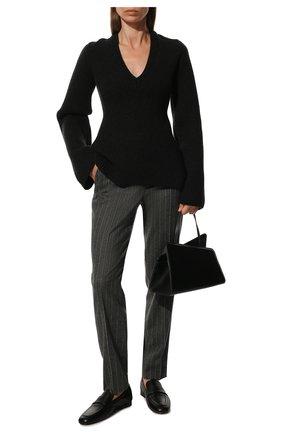 Женские кашемировые брюки LORO PIANA серого цвета, арт. FAI8499 | Фото 2